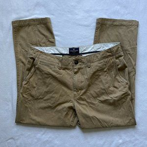 American Eagle Mens Relaxed Straight Pants Beige Size 36 X 30